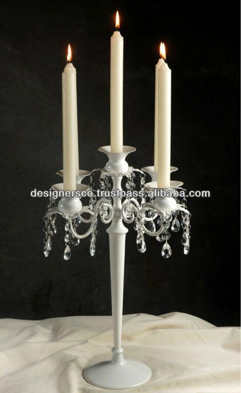 Глянцевый белый свадьба 5 свет канделябры с кристаллы-Принадлежности для мероприятий и вечеринок-ID товара::130968300-russian.alibaba.com