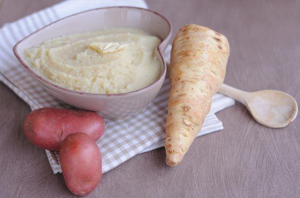 Purée de panais, jambon et vache qui rit.  http://www.cuisine-de-bebe.com/recette/puree-de-panais-jambon-et-vache-qui-rit/