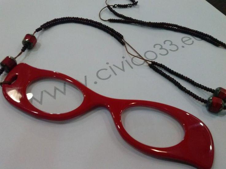 Strepitosa Collana con pietre dure ed Occhiale Vintage da lettura
