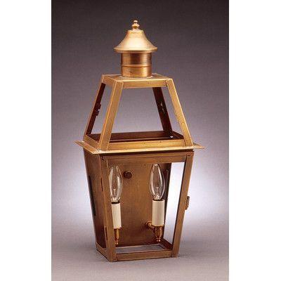 Northeast Lantern Uxbridge 2 Light Outdoor Flush Mount Finish: Antique Copper, Shade Type: Seedy Marine