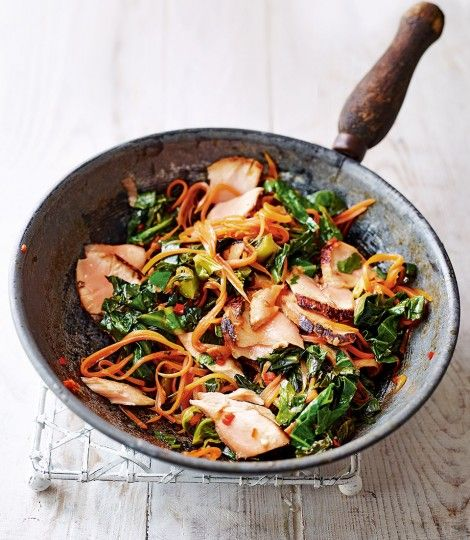 Pan-seared-teriyaki-salmon-stir-fry