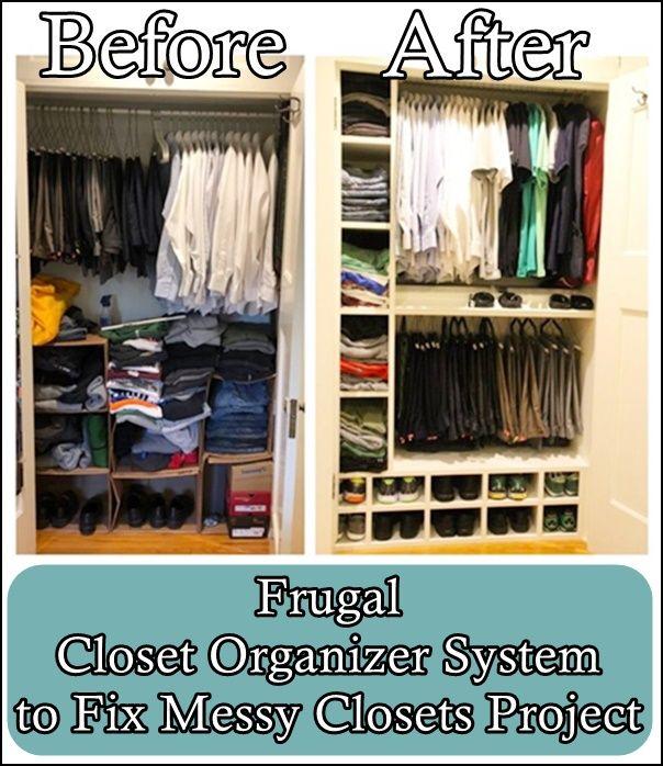 Frugal Closet Organizer System to Fix Messy Closets