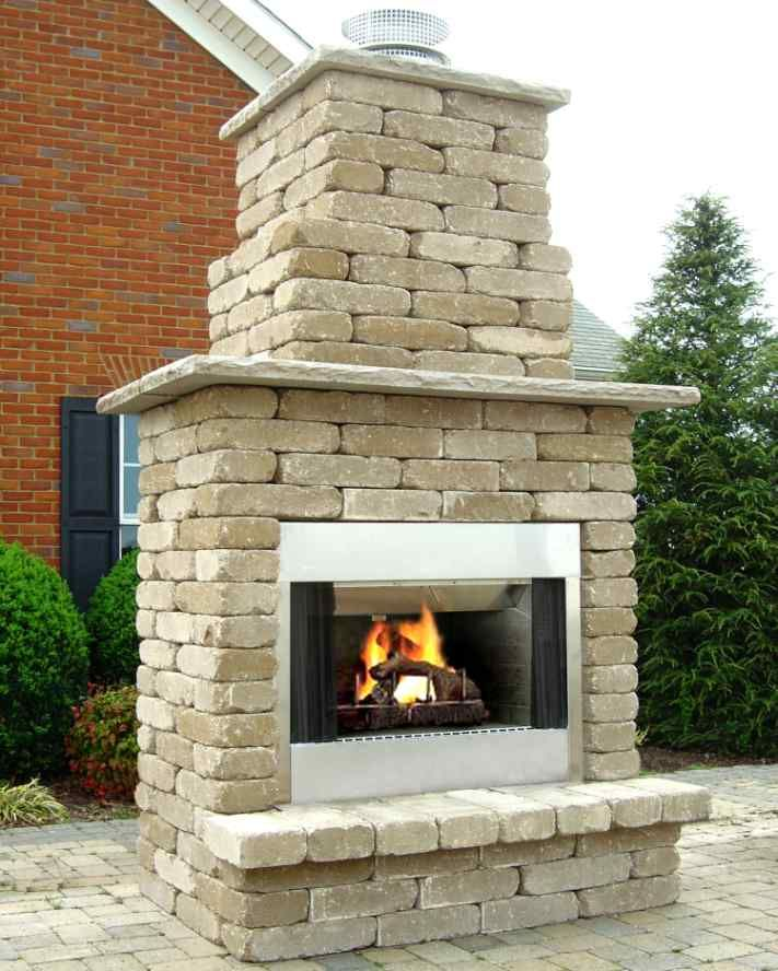 Outdoor Wood Burning Fireplace Plans Google Search