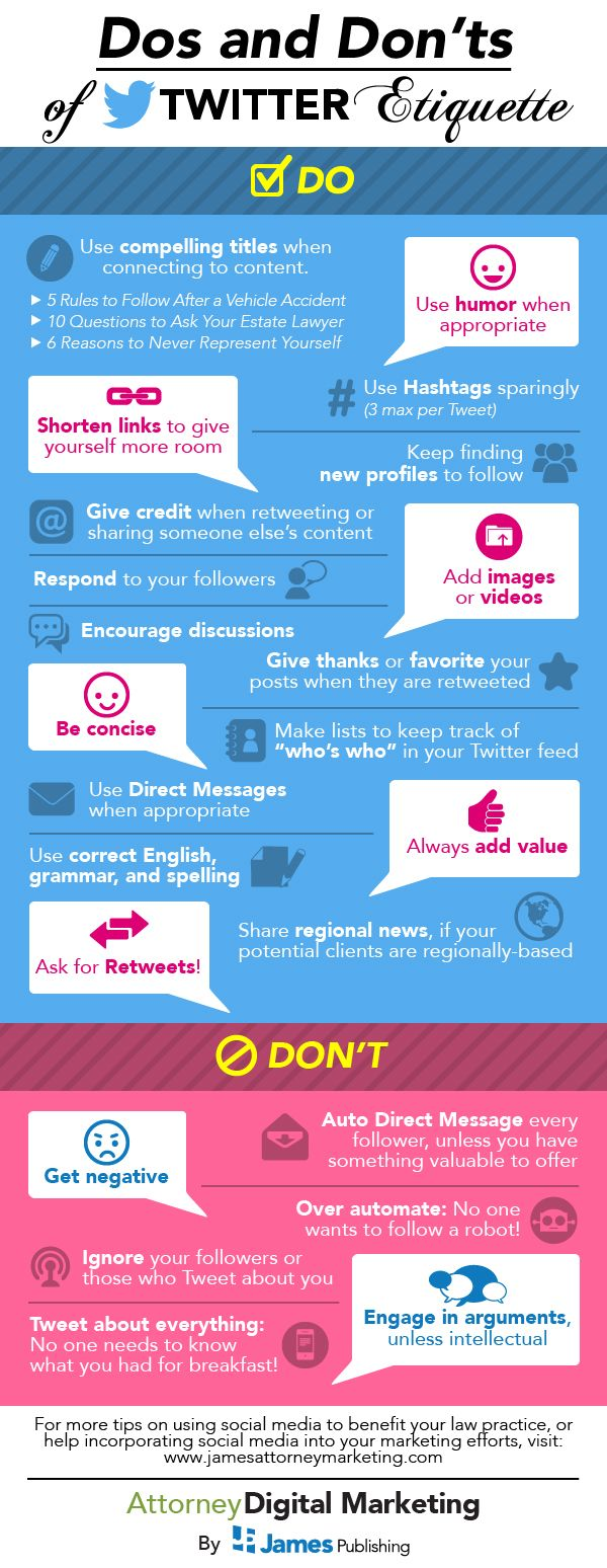 Do's and Don'ts of Twitter Etiquette #socialmedia #marketing