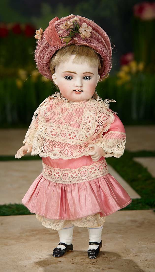 """""""I Only Wanted to Wonder"""" - August 1, 2017: 406 Wonderful Large German All-Bisque Doll with Splendid Painting by Kestner"""