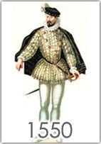 La moda maschile nella seconda metà del '500 nelle varie aree d'Europa, l'uso e il significato della gorgiera, gli accessori, etc.