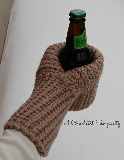 "Ravelry: ""Knot Knit"" Coffee & Drink Mitt pattern by Jennifer Pionk"