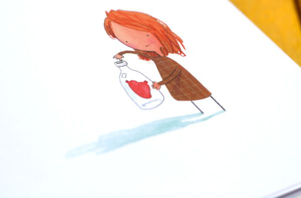 (Own) The Heart and the Bottle by Oliver Jeffers: about not bottling up emotions (grief) also about wonder and curiosity Brain Pickings