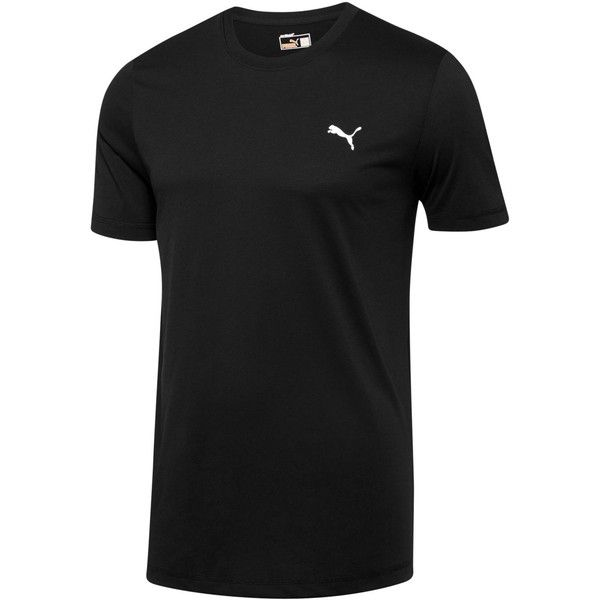 Puma Essential Performance T-Shirt ($25) ❤ liked on Polyvore featuring men's fashion, men's clothing, men's shirts, men's t-shirts, black and mens base layer shirts