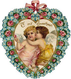 Клипарты сердце, ангелы. Vintage. День Святого Валентина.: ♥ Creative NN. Блог Альбины Рассеиной. ♥