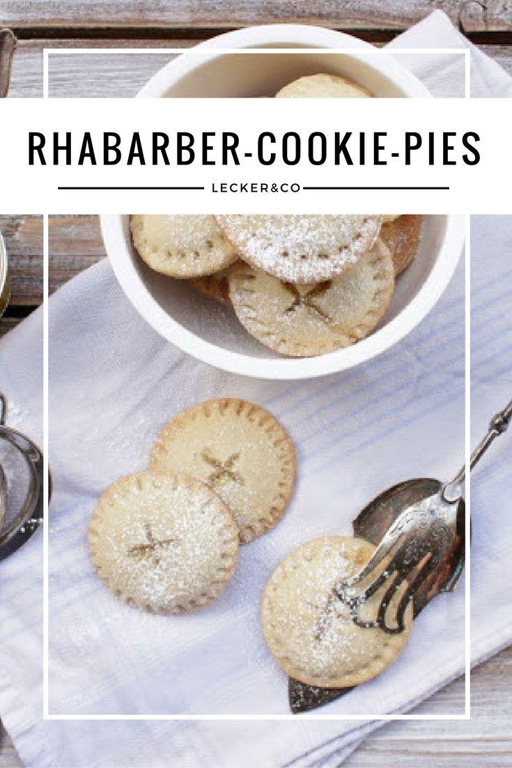 Rhabarber-Cookies-Pies - leckere Kekse mit Rhabarber-Kompott-Füllung