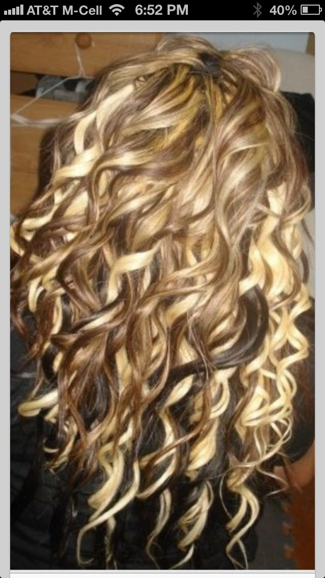 Wish my hair would do this.. Pretty highlights too
