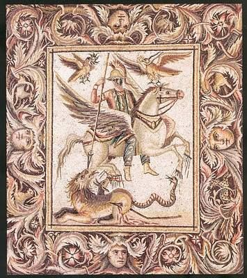 Mosaic of Bellerophon, from Zeugma, Turkey.