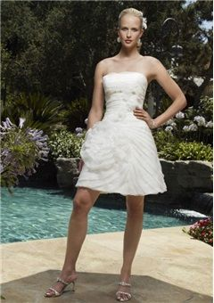 10599 Short Wedding Dresses Tutu Bridal Weddings Gowns Afternoon Without Sleeves