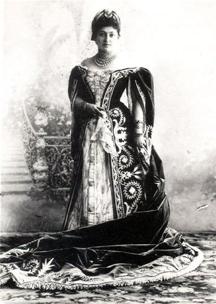 Russian Court dress. Lady-in-Waiting in her Ceremonial ...