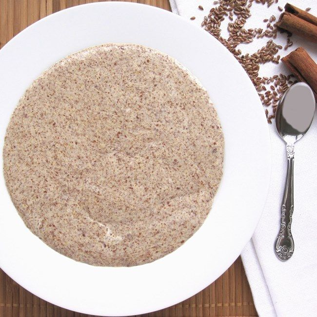 Low Carb Hot Cinnamon Flax Meal Porridge recipe...  4 net grams of Carbs  made with ground flaxseed, light cream, water, sweetener, ground cinnamon