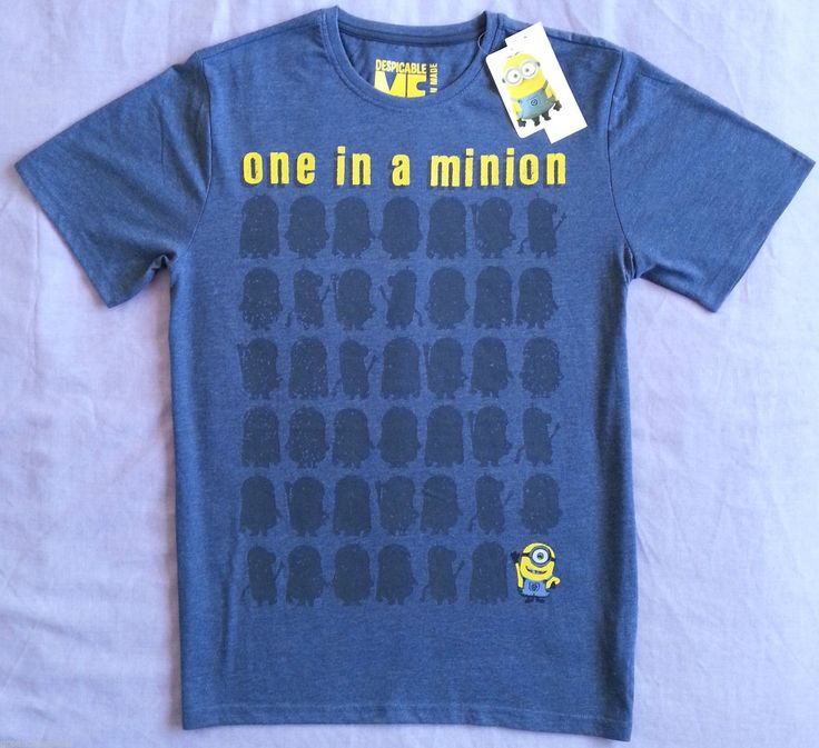Official Mens Minions T Shirt One in A Minion Sizes s XXL | eBay