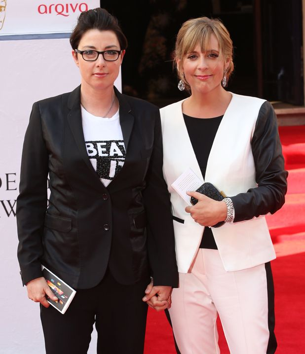 """Sue Perkins & Mel Giedroyc, hosts of """"The Great British Bake Off"""""""