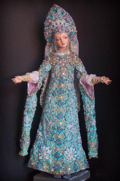 The Snow Maiden - Enchanted Doll by Marina Bychkova