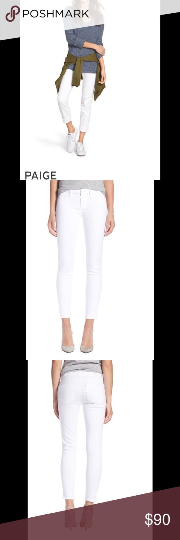 NWT-PAIGE WHITE SKINNY'S Beautiful figure skimming Paige white denim. Light with great coverage. Excellently flatters the figure. Great investment! ✅Price is firm but can be discounted with a bundle. 🚫No Trades. Paige Jeans Jeans Skinny