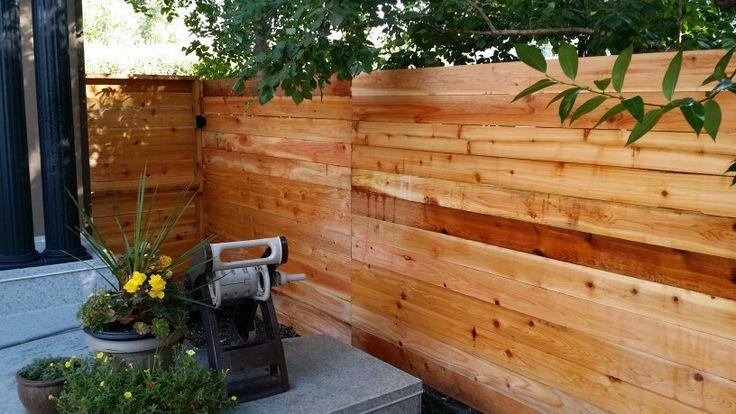 Custom cedar horizontal board design.......