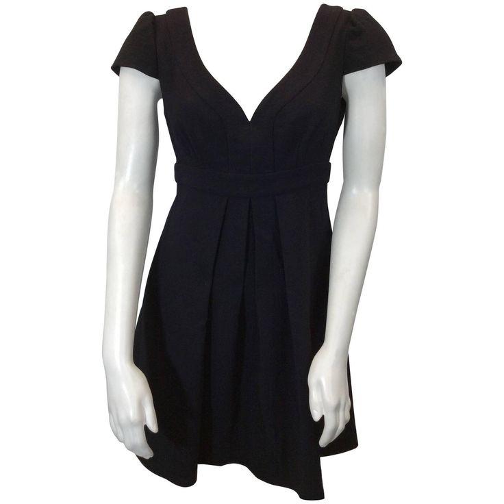 Armani Black Pleated Cocktail Dress