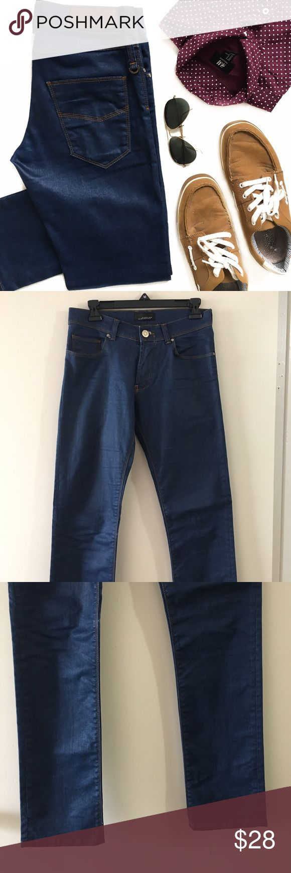 Zara Black Tag Blue Skinny Jeans Excellent condition, like new. Five pocket construction, Zip/button closure. 91% cotton, 7% polyester, 2% elastane. Zara Jeans Skinny