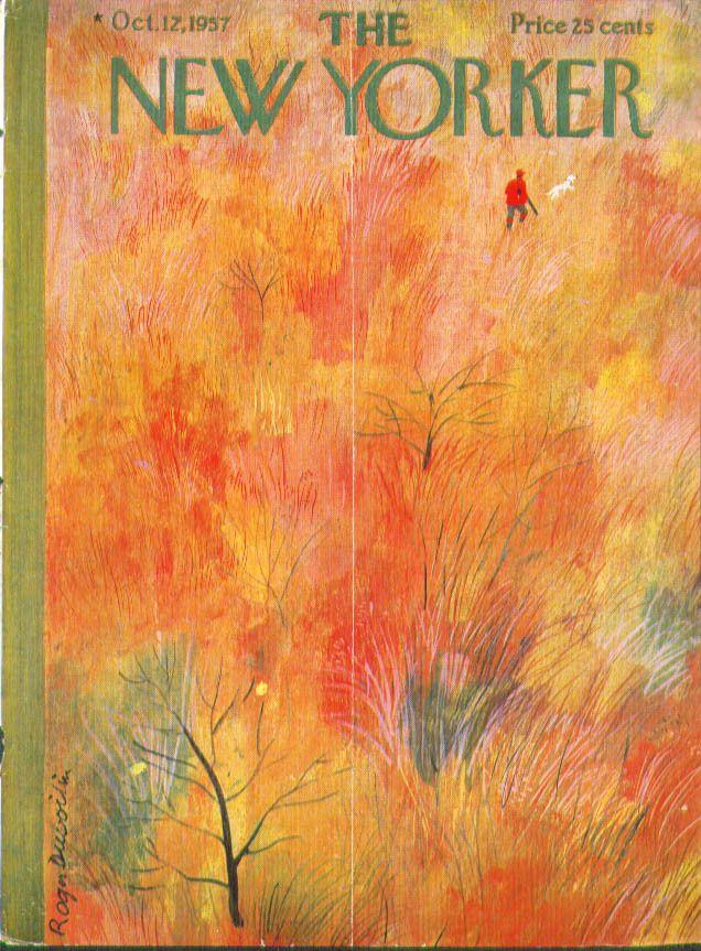 New Yorker cover by Roger Duvoisin