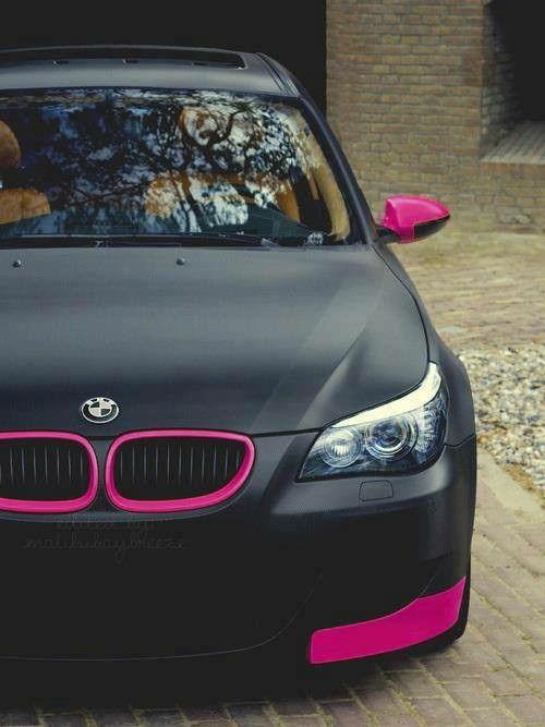Pink n black matt BMW