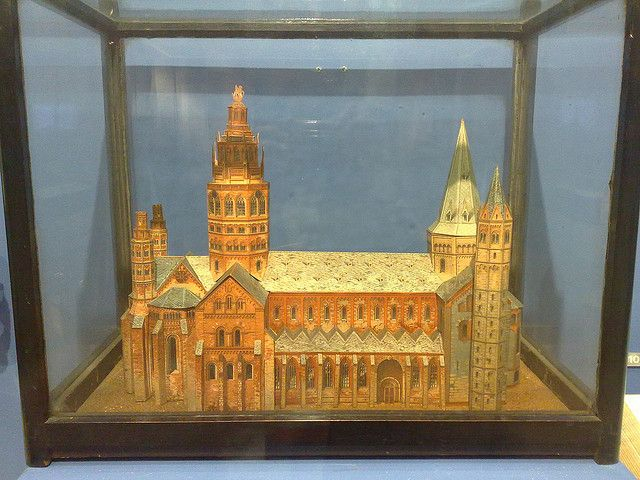 Actual paper model church constructed by Joseph Merrick (The Elephant Man), on display at Royal London Hospital Museum