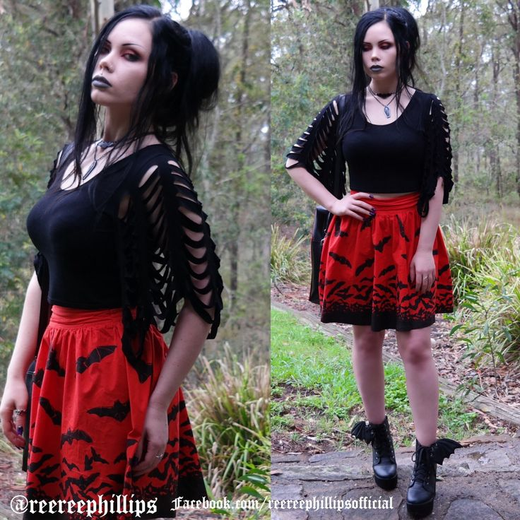 Batty for Bats [insert bat emoji] Top: Black Milk Clothing Skirt: Sourpuss Shoes: Bat Royalty for Iron Fist Bag: Dysfunctional Doll Jewellery: @thecryptofcuriosities More details on my YouTube channel and Instagram (ReeRee Phillips) 💀💀
