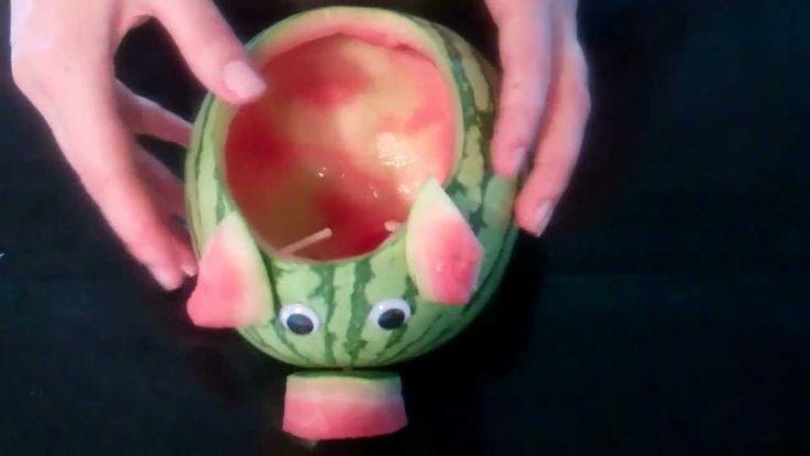 How to make a Piggy Watermelon Centerpiece.