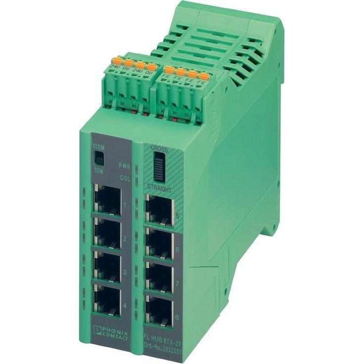 Phoenix Contact Ethernet Hub 2832551 24 V/DC Anzahl Ethernet Ports 8 Anzahl LWL Ports 0 Porttyp Ethernet 10/100 MBit/s R