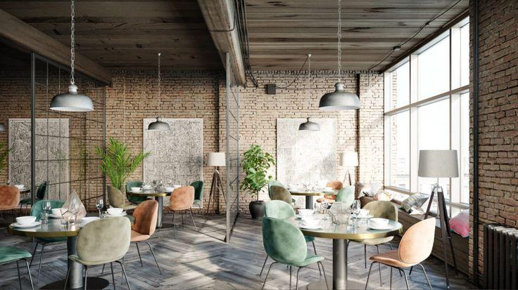 restaurant interior visualization / DAAKO studio