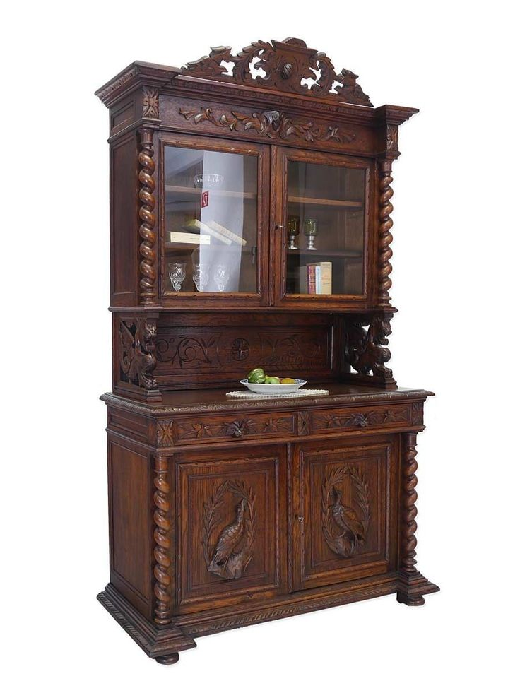 buffetschrank jagdschrank buffet historismus um 1880 eiche. Black Bedroom Furniture Sets. Home Design Ideas