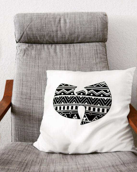 Wu Tang Pillow / 20x 20 / Hip Hop / Throw Pillow by SinKittyDsgn