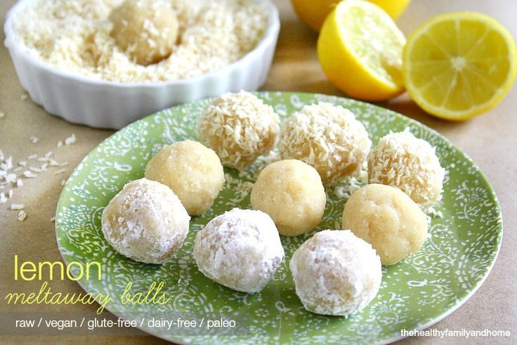 Clean Eating Raw Vegan Lemon Meltaway Balls...made with clean ingredients and they're raw, vegan, gluten-free, dairy-free, paleo-friendly and contain no refined sugar | The Healthy Family and Home | #rawfoods #vegan #glutenfree #cleaneating #truffles