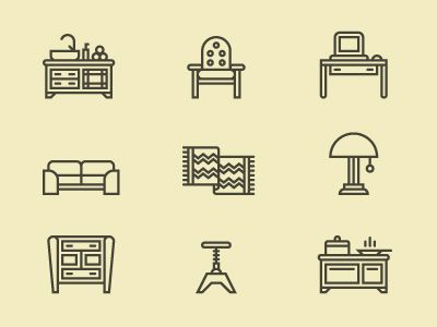 Furniture Icons  by Tim Boelaars