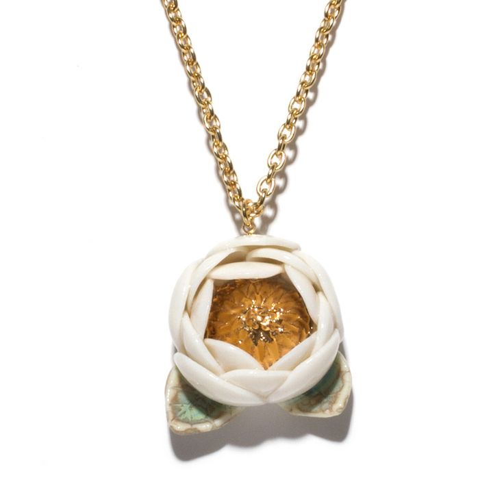 Julie Moon Single Blossom Necklace with Gold from Magic Pony