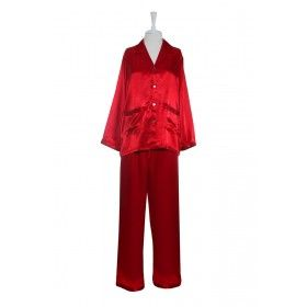 Pyjamas - Silk Satin - Red