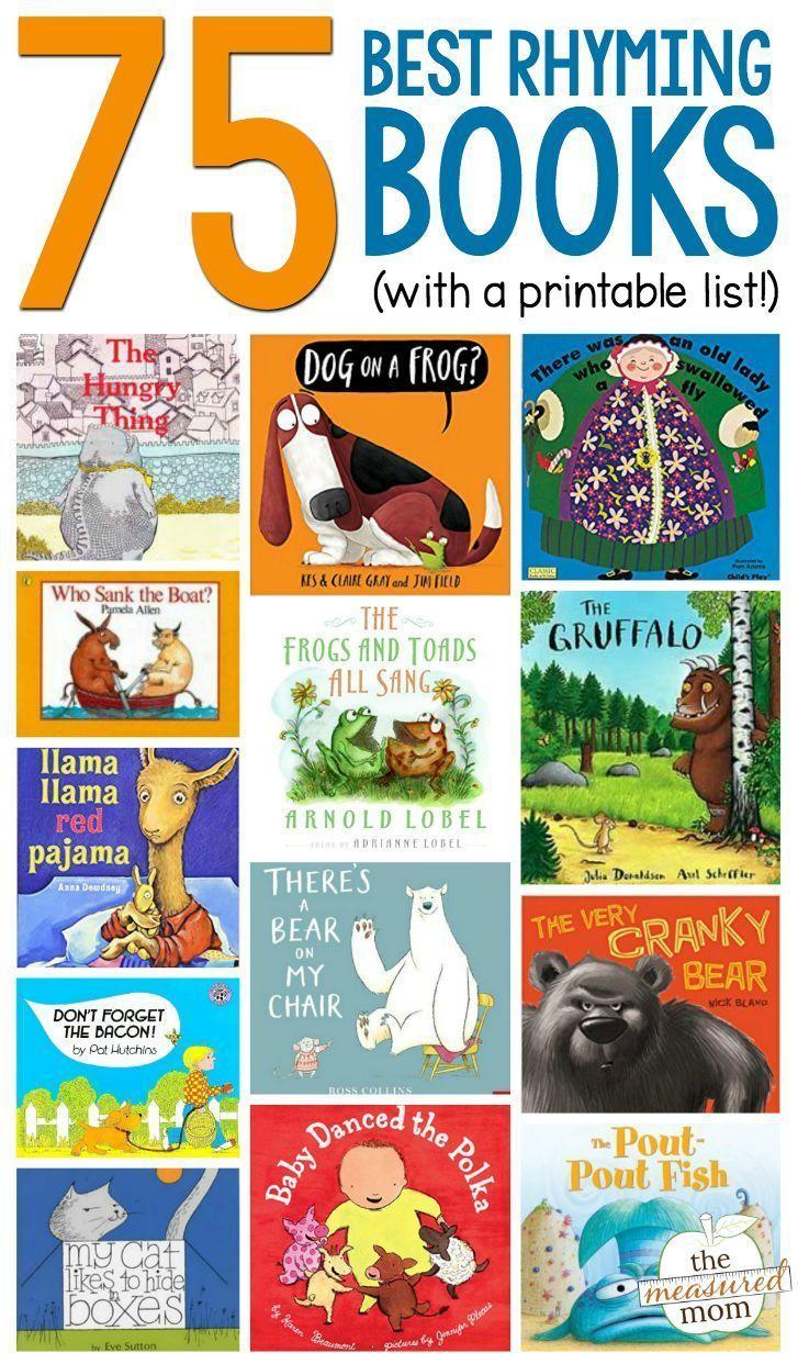 rhyming books kindergarten rhyme rhymes preschoolers preschool nursery toddler mom ultimate children animal read printable measured activities lists reading farm
