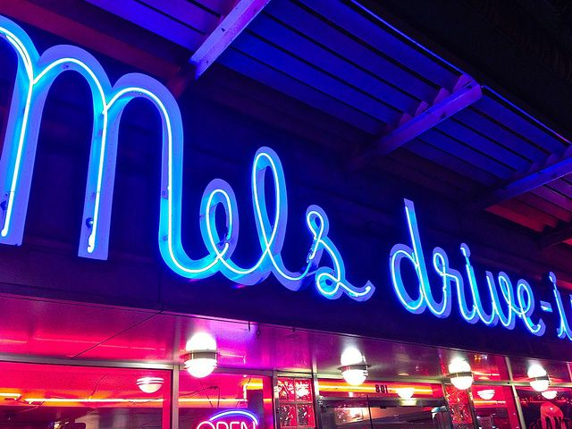 sign at Mel's drive-in diner in San Francisco
