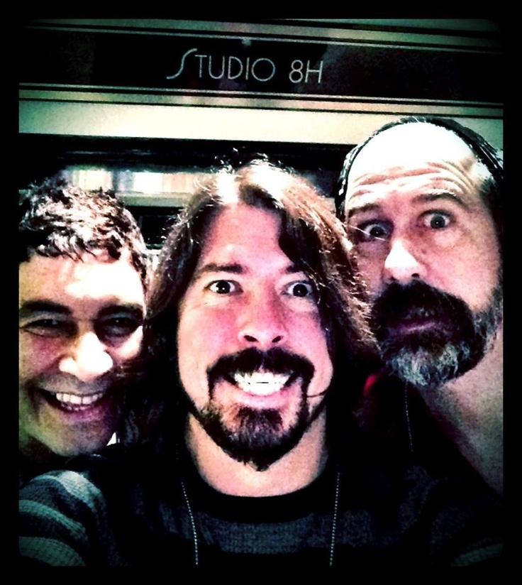 Pat Smear, Dave Grohl and Krist Novoselic
