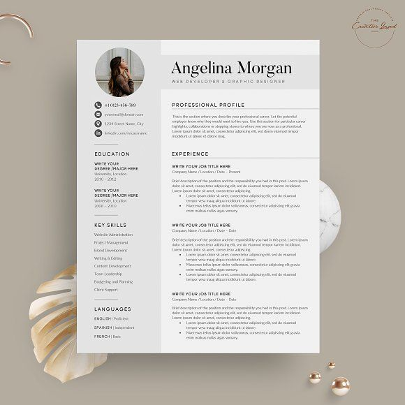Resume Cv The Angel Resume Templates Resume Cv Creative Resume Templates