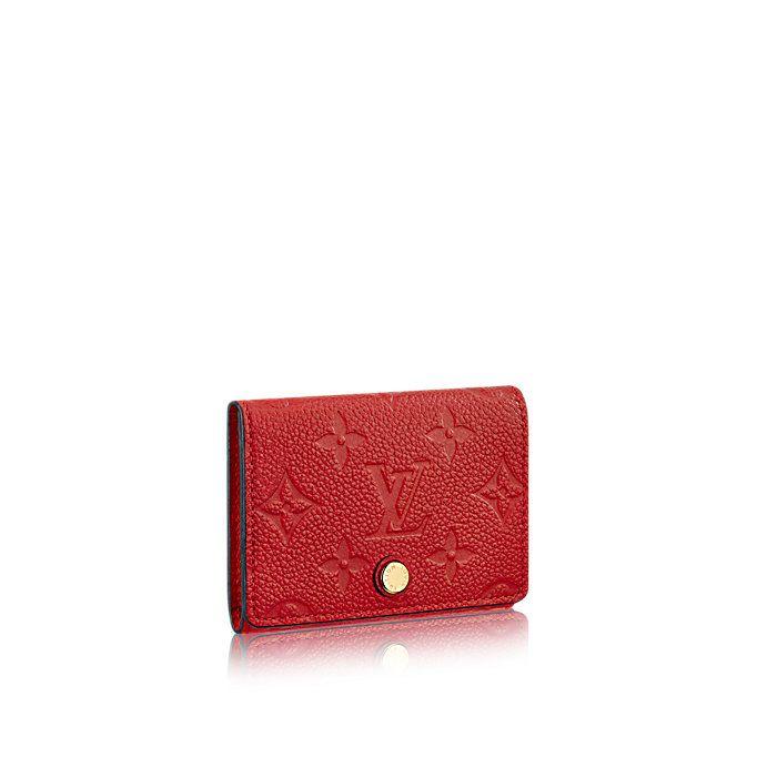 56ea7e0d6 Monogram Empreinte Leather SMALL LEATHER GOODS KEY & CARD HOLDERS Business  Card Holder | Louis Vuitton ®