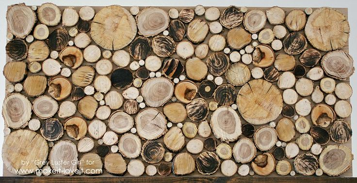 How to Make Your Own Wood Slice Backdrop   via Make It and Love It