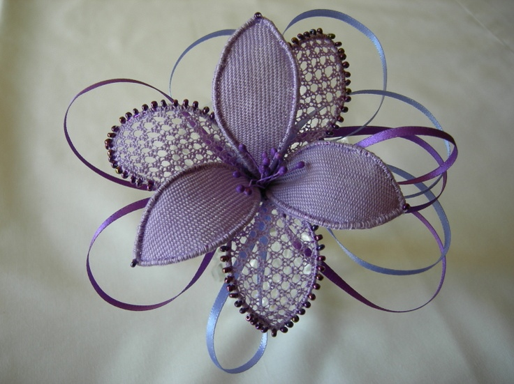 Lilac hair ornament