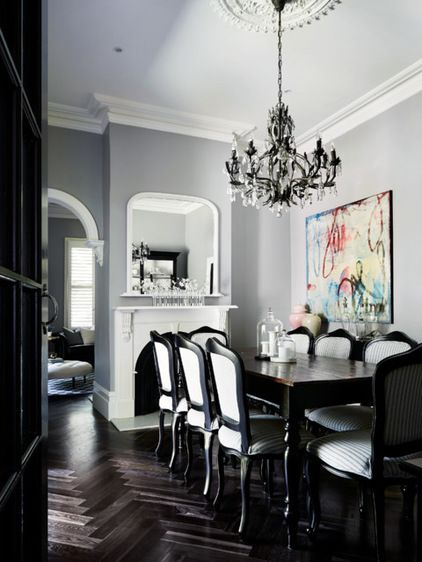88 best dining images on pinterest dining rooms dining for Best transitional dining rooms
