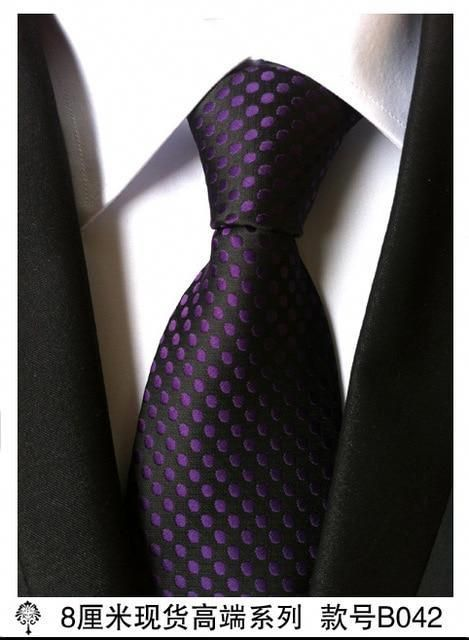 New Classic Paisley purple JACQUARD WOVEN Silk Men/'s Tie Necktie B042