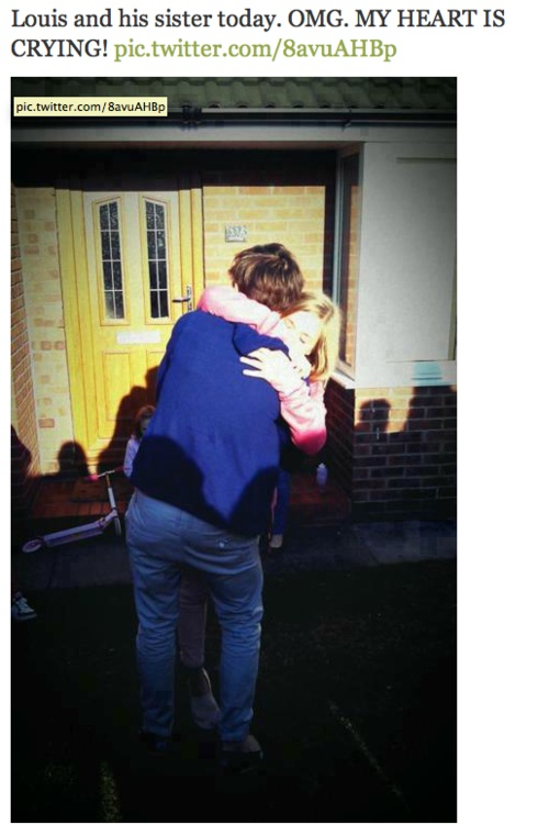 Louis and Lottie<3 aww:'( she is so lucky to have a brother like him<3<3